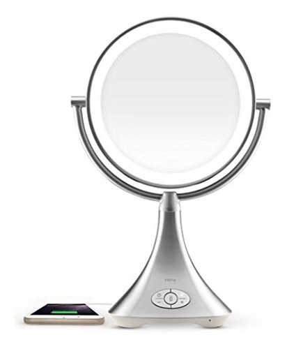 Ihome Icvbt8 - Espejo De Maquillaje (3 Lados, 9 Pulgadas, Lu