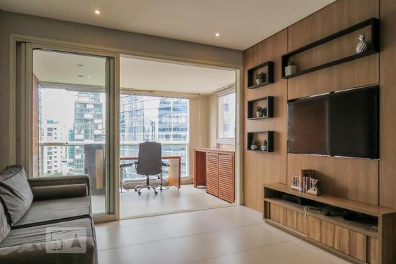 Apartamento No 9º Andar Mobiliado Com 1 Dormitório E 2 Garagens - Id: 892985006 - 285006