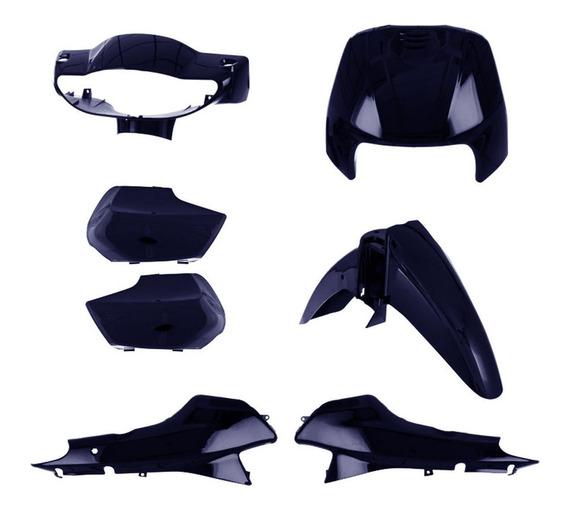 Kit Plástico Biz 100 Completo Pro Tork Azul 1998 À 2005
