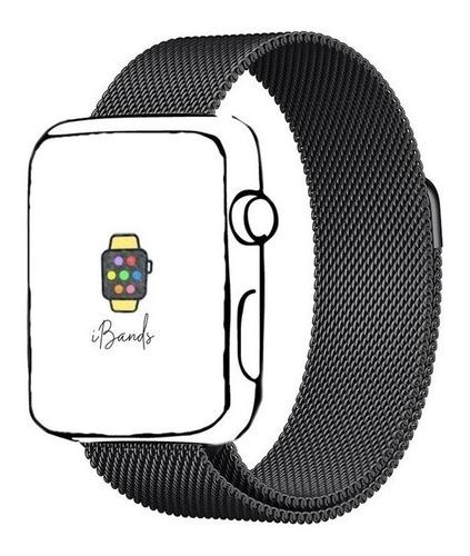 Imagem 1 de 7 de Pulseira Ibands Aço Magnético Milanese Loop Para Apple Watch