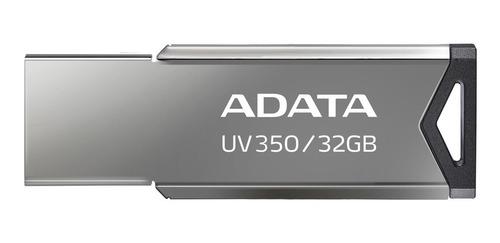 Memoria Usb Adata Uv350 32gb Usb3.2 Acabado Metal Brillante