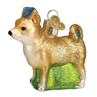 Viejo Mundo Chihuahua De La Navidad Ornamento De Cristal Sop