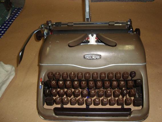 Maquina Escrever Triumph Anos 50 Tudo Funcionando E Revisada