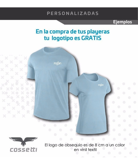 Playera Personalizada Cuello Redondo Corta Logo Gratis! Xl