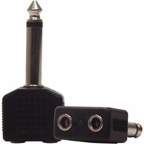 Conector Adaptador P10 Mono + 2 P2 Mono