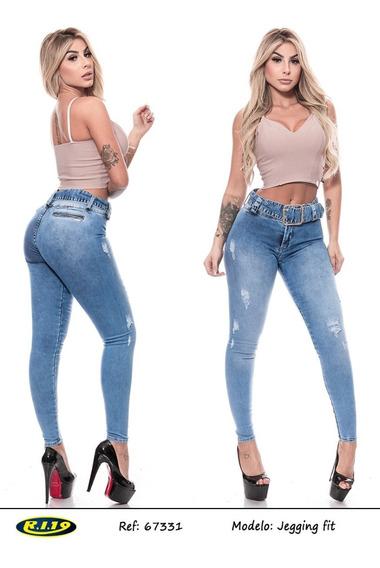 Calça Jeans Clara Com Cinto Jegging Fit Ri19 67331