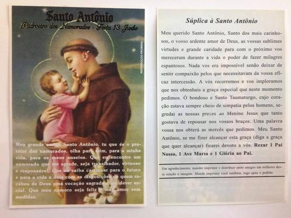 500 Fls Oração De Promessa Santo Antônio Santinho Imagem