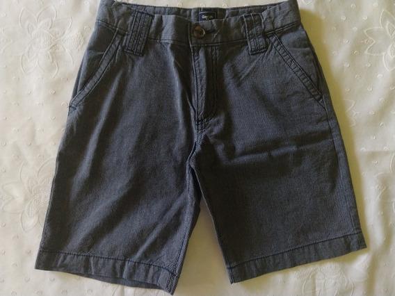 Bermuda Niño Gap Talle 8 Años. Azul Con Rayas. Como Nueva!