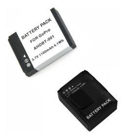 Kit 1 Ahdbt-001 + 1 Bateria Ahbt-301/201 Para Gopro C N/f
