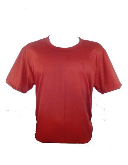 Camiseta Vermelha Para Sublimação 100% Poliéster Kit Com 20