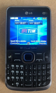 Telefone Celular Lg C397 Pouco Uso, Funcionando Preto 2 Chip