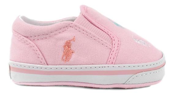 Tenis Polo Ralph Lauren Para Bebe Color Rosa Pastel