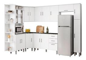 Cozinha Completa 8 Peças Suiça Poliman Móveis