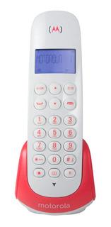 Telefone sem fio Motorola MOTO700 branco e vermelho