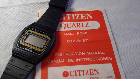 Citizen P040 Com Manual - Raro (leia O Anuncio)
