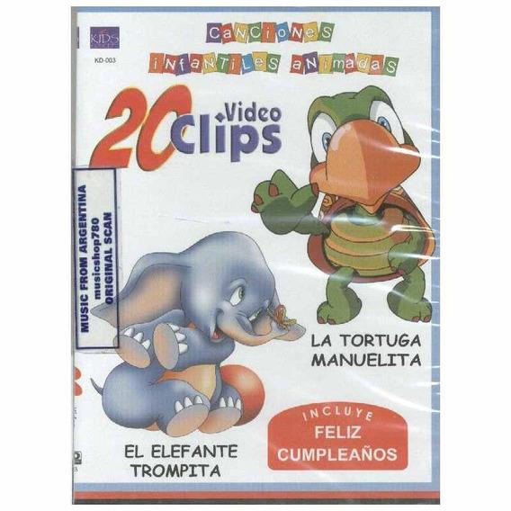 Canciones Infantiles Animadas La Tortuga Manuelita Dvd Nuevo