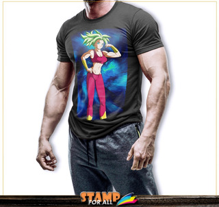 Camiseta Dragon Ball Z Super Kefla Stamp For All