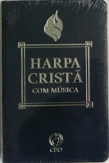 Harpa Cristã Com Música Luxo Letra Grande Cpad