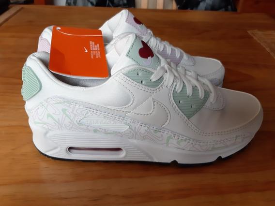 Zapatillas Nike Air Max 90 Vday - Mujer - Blanco Crema
