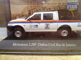 Miniatura L200 Defesa Civil Carros Serviço Brasil 1/43
