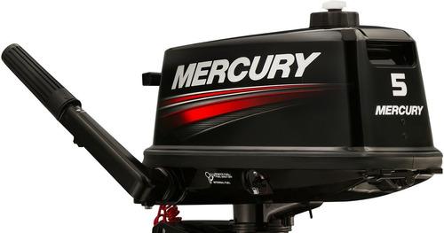 Imagen 1 de 14 de Motor Mercury Fuera Borda 5hp 2 Tiempos Garantia Pata Corta