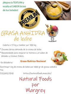 Grasa Butírica Nacional (grasa Obtenida De La Leche De Vaca)