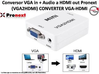 Conversor Vga In + Audio A Hdmi Out Pronext (vga2hdmi)