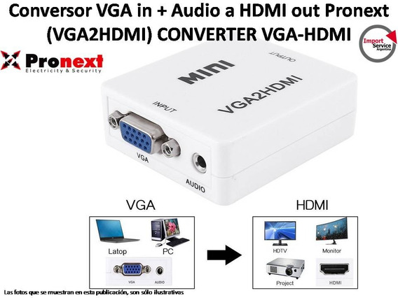 Conversor Vga In + Audio A Hdmi Out Pronext (vga2hdmi)
