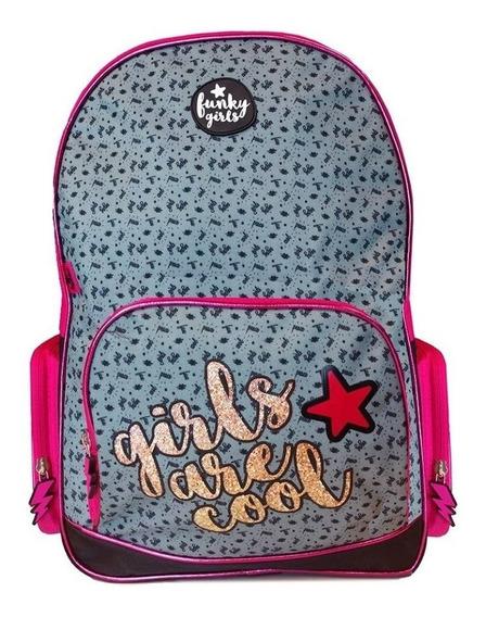 Mochila Funky Girls C/estampa Girls Cool 18
