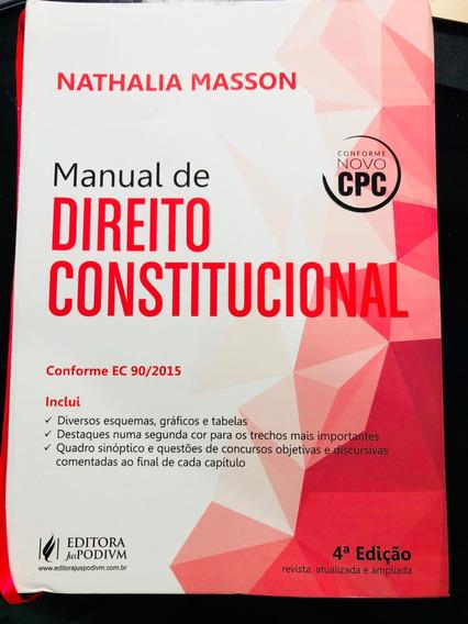Livro Manual De Direito Constitucional Nathalia Manson 2016