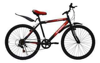 Bicicleta De Montaña Supermex Storm Rodada 26 6 Velocidad