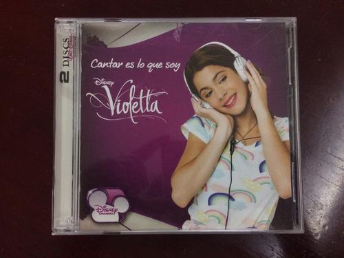 Cd Original Violetta Cantar Es Lo Que Soy