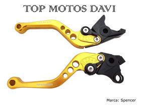 Manete Esportivo 2 Dedos Honda Cbx 750f & Indy Dourado Claro