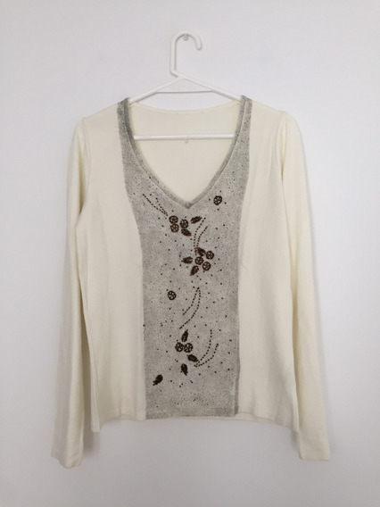 Sweater Color Natural. Talle L.