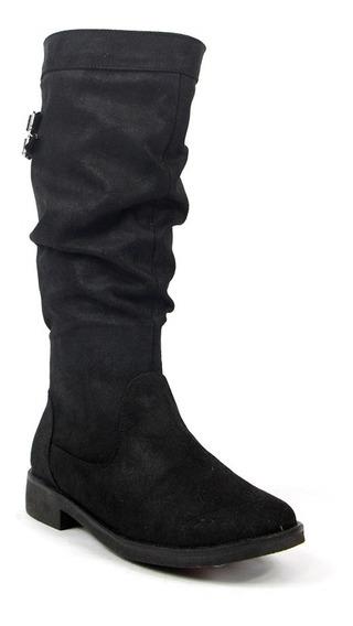 Botas Dama Mujer Tropicana Tipo Gamuza Negro Casuales