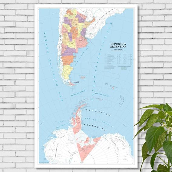 Mapa Bicontinental Argentina Según Ley 26.651 97cmx61cm