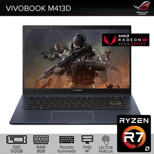 Imagen 1 de 8 de Remate! Asus Vivobook Ryzen7 Radeon Vega10 Ssd 512gb Ram 8gb