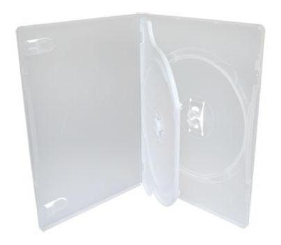 100 Box Dvd Duplo Transparente( Frete Grátis) Envio Imediato