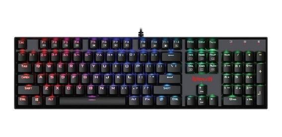 Teclado Gamer Redragon Mitra Rgb Mecânico Abnt2 Switch Outemu Blue K551rgb-1 Pt-blue