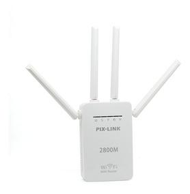 Repetidor Roteador Amplifica Wifi 4 Antenas 2800m Pixlink