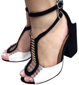 6491b556ad Sandalia Gladiadora Preta Salto Alto - Sapatos no Mercado Livre Brasil