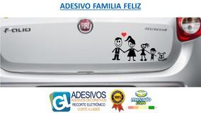 Adesivo Família Feliz Personalizado Para Carro Moto Pai Mãe