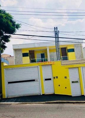 Sobrado Residencial À Venda, Jardim Santo Antônio, Santo André. - So0863