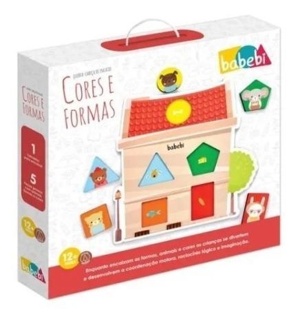 Imagem 1 de 3 de Brinquedo Educativo Quebra-cabeça De Encaixe Cores E Formas