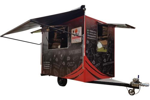 Trailer Food Truck 3mx2m C/ Freio - Monte Seu Negócio Hoje!