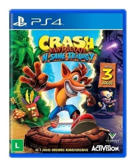 Crash Bandicoot N Sane Trilogy Jogo Ps4 + Brinde