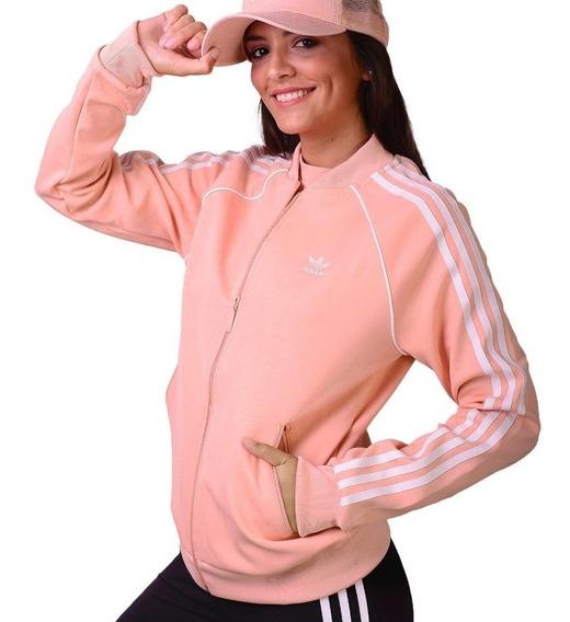 adidas Campera Sst Mujer Rosa