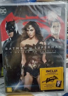 Dvd Batman Vs Superman - Capa Dupla Face + Chaveiro Do Film
