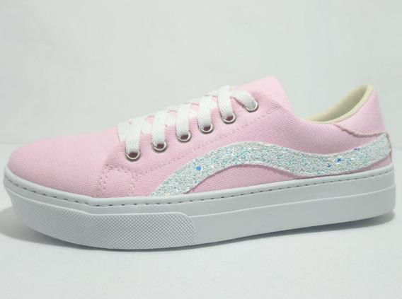Sapato Sapatenis Tenis Feminino Lona Lançamento
