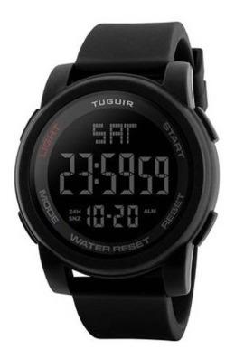 Relógio Masculino Tuguir 1257 Preto Original Na Caixa Com Nf